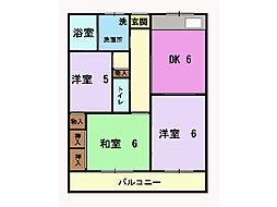 コーポ鈴木[203号室]の間取り