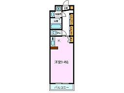 パティオ川村[E44号室]の間取り