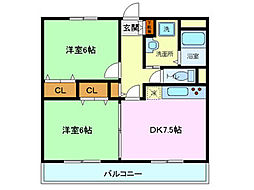ユアーズホーム[307号室]の間取り