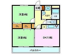 ユアーズホーム[102号室]の間取り