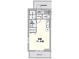 エル・フィネス三島[208号室]の間取り
