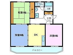 エントピア野田[2階]の間取り