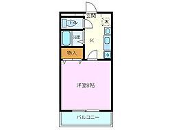 リバーマンション高田[106号室]の間取り