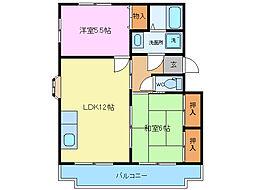 平沢ハイツA B[A102号室]の間取り