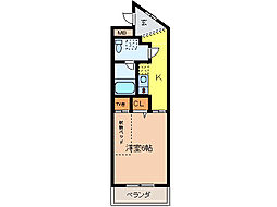 静岡県三島市広小路町の賃貸マンションの間取り