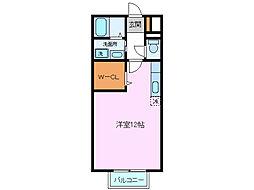 アーデン三島[2階]の間取り