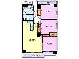 三島一番町ハイツ[508号室]の間取り