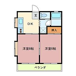 ルフュージュさくら青木[2階]の間取り