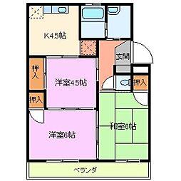 ダイマルハイツ徳倉[1階]の間取り