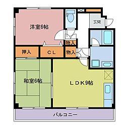 シークレフ[2階]の間取り