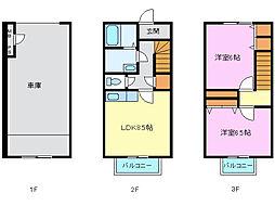 [テラスハウス] 静岡県駿東郡長泉町桜堤2丁目 の賃貸【/】の間取り