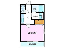 アンジェIII[2階]の間取り