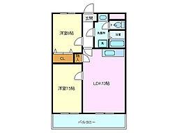 メゾンボヌール[3階]の間取り