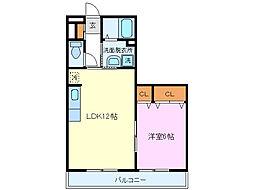 BAY HOUSE[208号室]の間取り