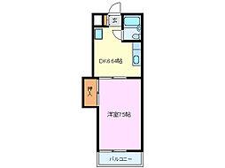 メゾン富士[3階]の間取り