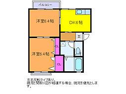 コンフォートC[1階]の間取り