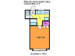 ラ・スール[2階]の間取り