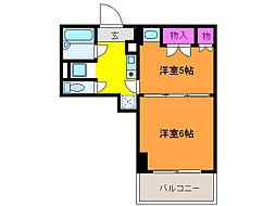 プレステージ新潟[5階]の間取り