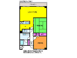 グランコア紫竹山[3階]の間取り