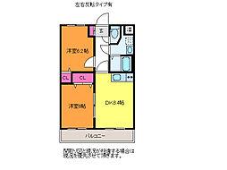 Hero近江[1階]の間取り