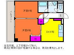 ホーリィCITY[3階]の間取り