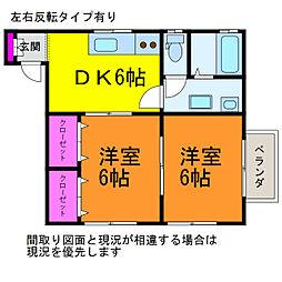 シモッティI[1階]の間取り