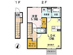 セジュール近江[2階]の間取り