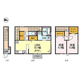 (仮)D-room出来島[2階]の間取り