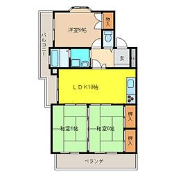 フレグランス松山II[2階]の間取り