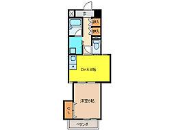 ピトレスク21[3階]の間取り