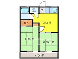 千國マンション[2階]の間取り