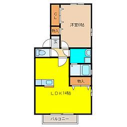 ラ・プレミール[B203号室]の間取り