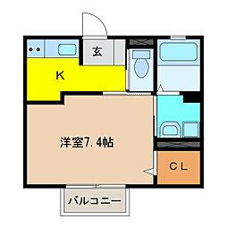 Actys犬山[1階]の間取り