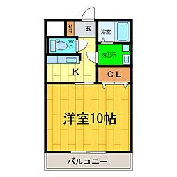 ブライト古川[102号室]の間取り