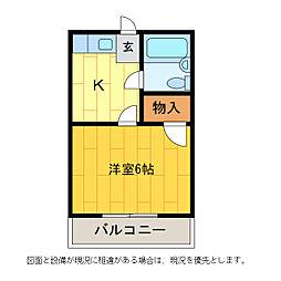 スタート2[3-B号室]の間取り
