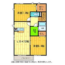 シャーメゾン松茂[A202号室]の間取り