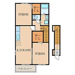 サンモール・N IV[2階]の間取り