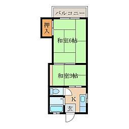 サンハイツ松下[1階]の間取り