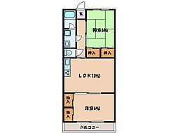 ロイヤルハイツ寿  [3階]の間取り