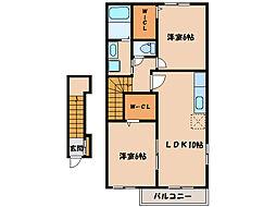 Y・Sコート弐番館I、II、III  [A203号室]の間取り
