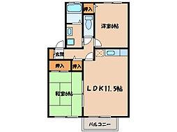 グランシャリオA.B[2階]の間取り