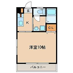 ハピネス札元[2階]の間取り