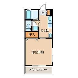 西山寿マンション[301号室]の間取り