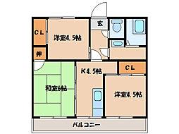 寿コーポ [2階]の間取り