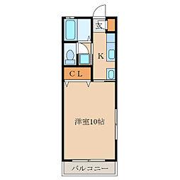 第二札元大丸マンション[302号室]の間取り