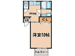 新川パレス[105号室]の間取り
