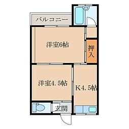 南マンション[1階]の間取り