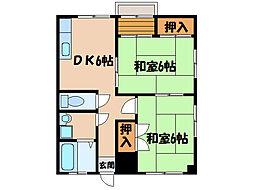 リバーサイドマンション  (新川)[2階]の間取り