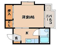 ハイツKANOYA[1階]の間取り