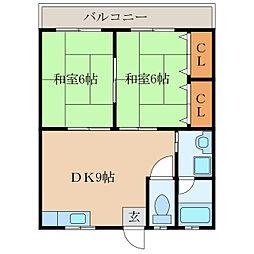コスモ寿[2階]の間取り